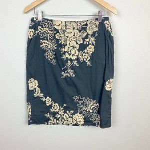 J.Crew 6 Pencil Skirt Mirabel Floral Embroidered
